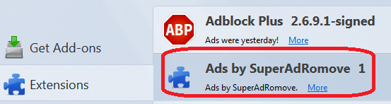 ads by superadromove firefox