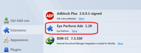 eye perform ads firefox