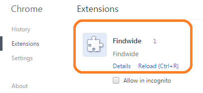 findwide extension chrome