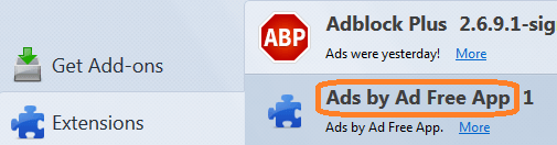 "Remove ""Ads by Ad Free App"" From Chrome/Firefox"