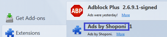 ads by shoponi firefox