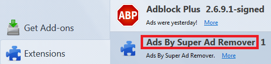 ads by super firefox