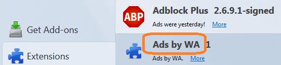 ads by wa firefox