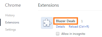 Remove Blazer Deals Malware From Chrome
