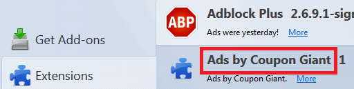 "Remove ""Ads by Coupon Giant"" from Chrome/Firefox"