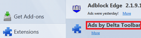 Get Rid Of Ads by Delta Toolbar