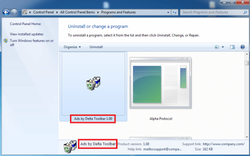 Remove Ads by Delta Toolbar