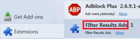 filter results firefox