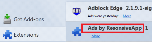 Remove Ads by ResonsiveApp from Firefox