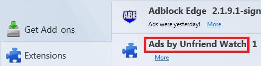Get Rid Of Ads by Unfriend Watch