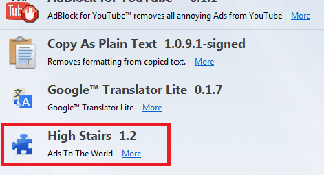 Get rid of High Stairs on firefox