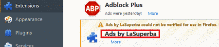 Remove Ads by LaSuperba Virus From Firefox