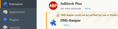 Remove DNS-Keeper Ads From Firefox