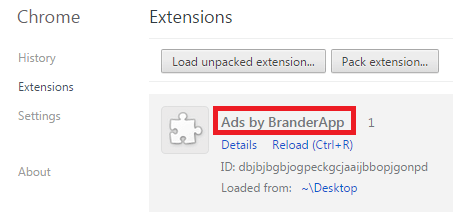 Remove Ads by BranderApp Virus From Chrome