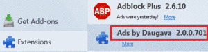 Remove Ads by Daugava 2.0.0.701 From Firefox