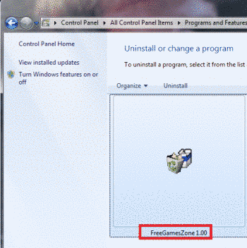 Remove FreeGamesZone Virus