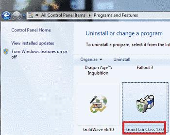 Remove GoodTab Class (suptab.dll)