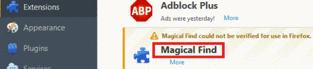 Remove Magical Find Ads From Firefox