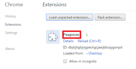 Remove Peapoon Adware From Chrome