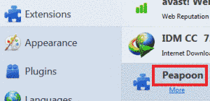 Remove Peapoon Adware From Firefox