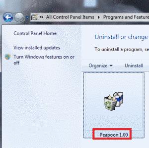 Remove Peapoon Adware