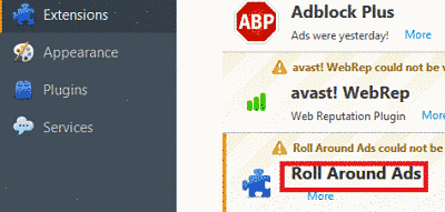 Remove Roll Around Ads From Firefox