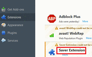 Remove Saver Extension Ads From Firefox