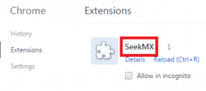 Remove SeekMX Homepage From Chrome