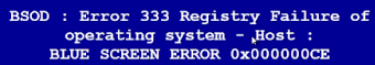 BSOD Error 333 Virus Removal