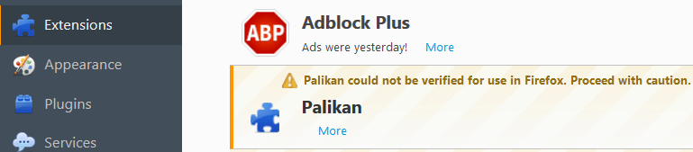 Palikan Search Virus Removal From Firefox