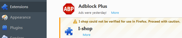 Remove Ads by I-Shop From Firefox