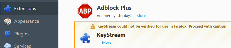 Remove Ads by KeyStream Virus From Firefox