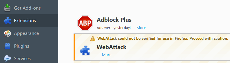 Remove Ads by WebAttack From Firefox