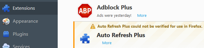 Remove Auto Refresh Plus From Firefox