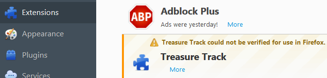 Remove Treasure Track Ads From Firefox