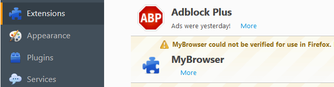 Uninstall MyBrowser Virus Firefox