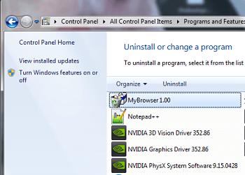 Uninstall MyBrowser Virus