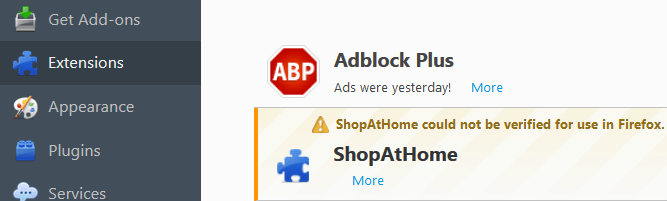 Uninstall ShopAtHome Toolbar Malware Firefox