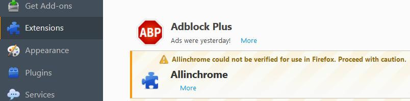 eliminar allinchrome virus firefox
