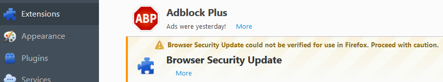 Browser Security Update Virus In Firefox