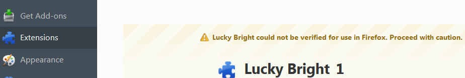 Lucky Bright Ads in Firefox