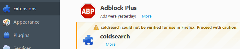 S.coldsearch.com in Firefox