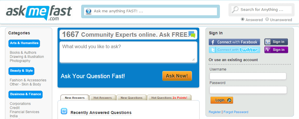 askmefast redirect
