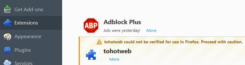 Tohotweb in Firefox