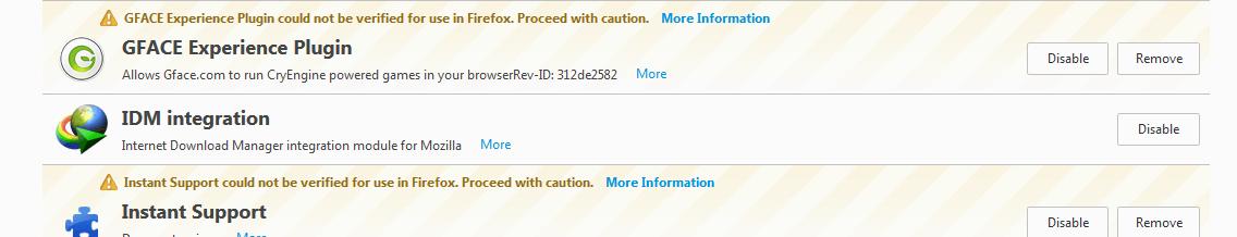 Instant Support Virus in Firefox