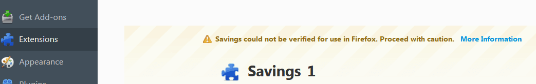 Ads by Savings in Firefox