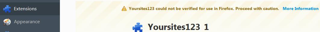 Yoursites123 in Firefox