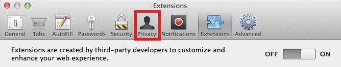 Privacy in Safari