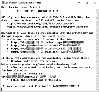 The locky virus ransom note.