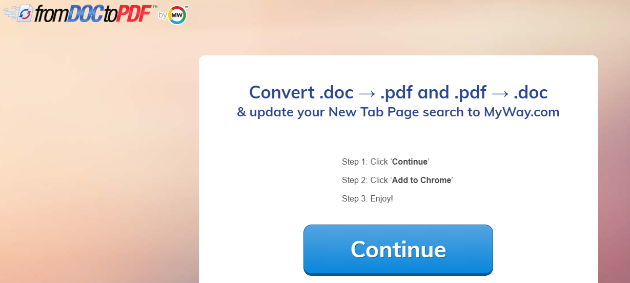 """From Doc to PDF"" Virus"